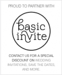 basic invite wedding invitations logo