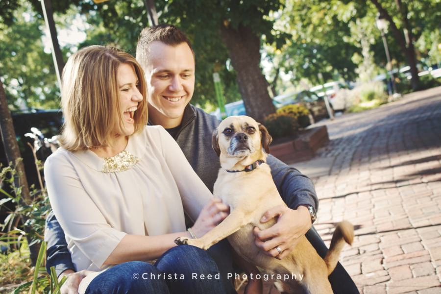 Minneapolis Couple's Photographer | St. Anthony Main with Brandi and Ryan