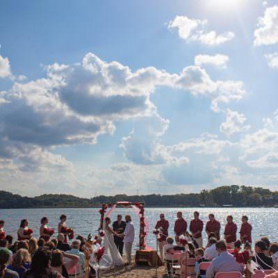 Eden Prairie Wedding Photographer | Fall Beach Wedding | Bryant Lake Regional Park
