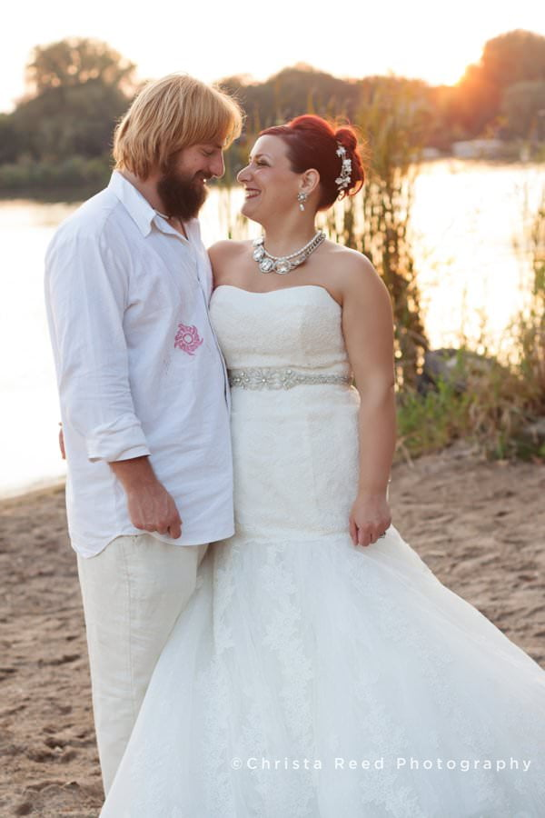 you wedding photography timeline can include romantic sunset portraits on a lake