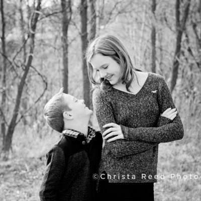 Black and White Family Portraits on Steiger Lake Victoria, MN