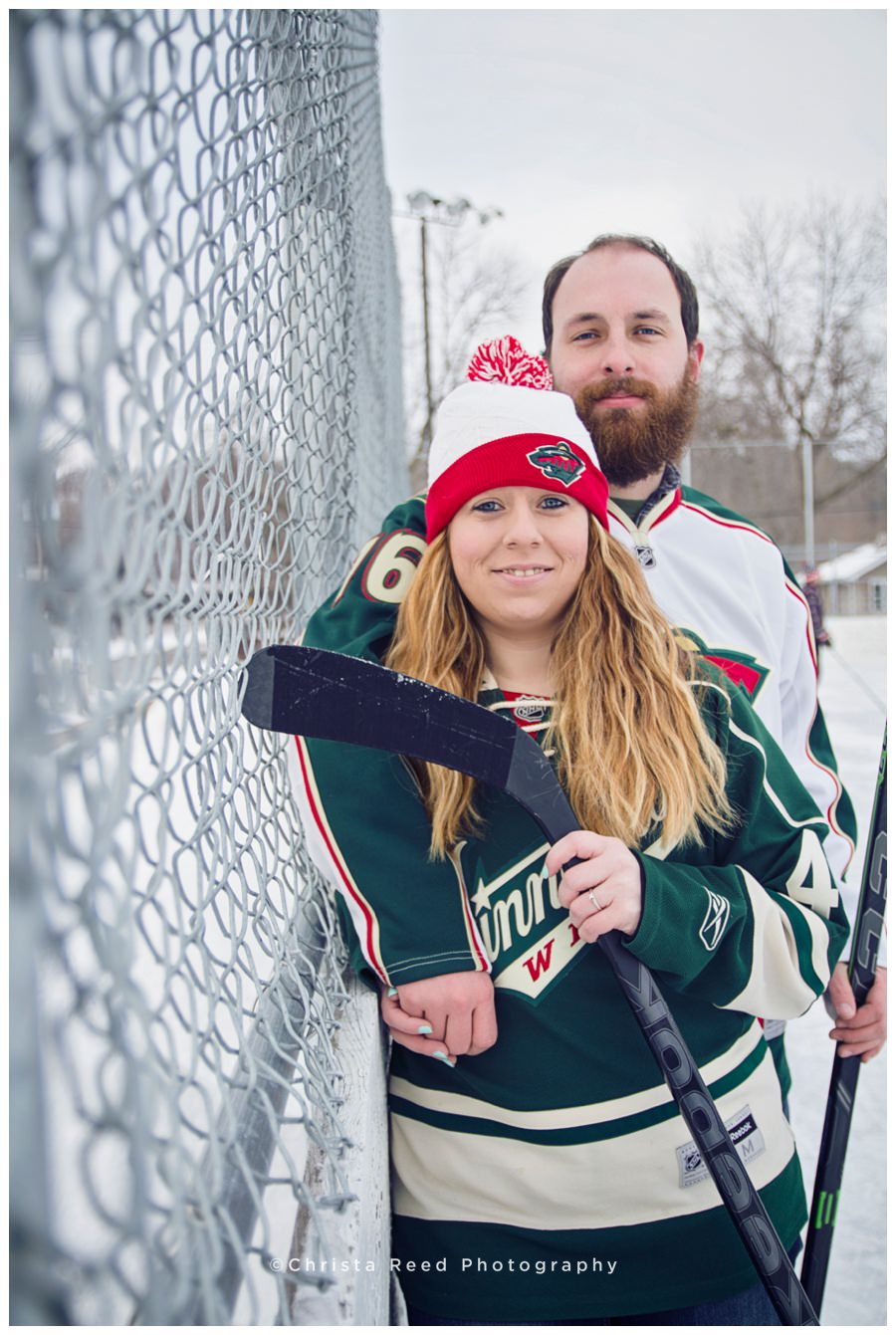 Minnesota wild engagement shoot