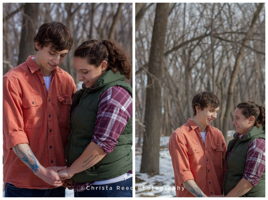 Victoria, MN Studio and River Valley Engagement shoot: Amber and Colton