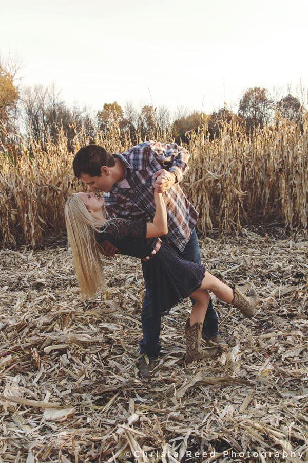 Belle Plaine, MN engagement photography cornfield engagement session