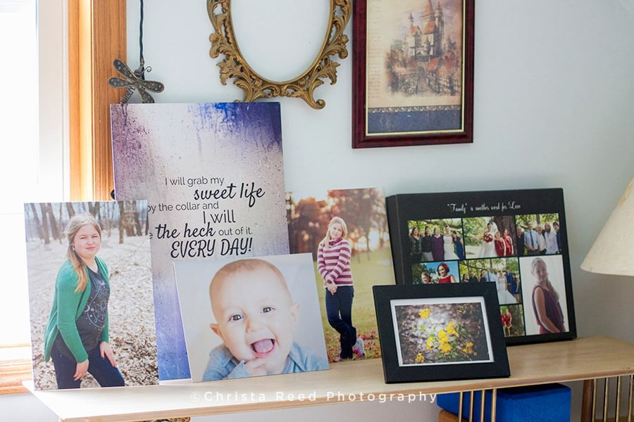 Photo Inspiration Wall | Victoria, MN Family Photographer Prints