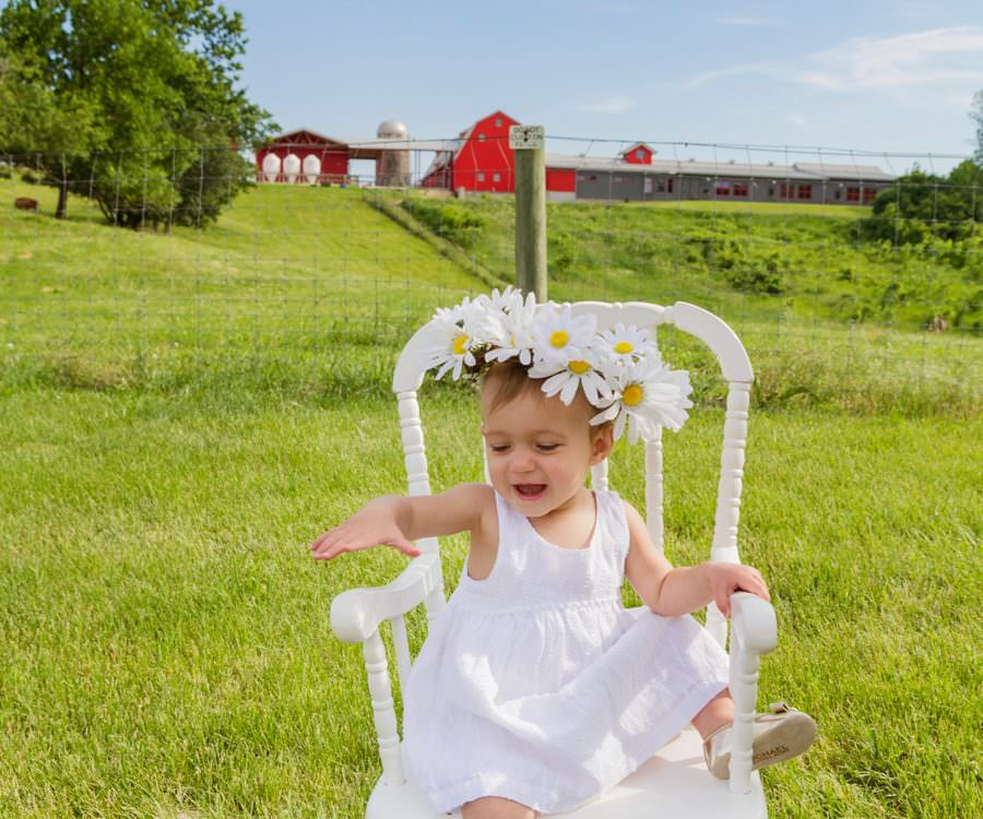 First Birthday Pictures on the Farm | Minnetrista Family Portrait Photographer