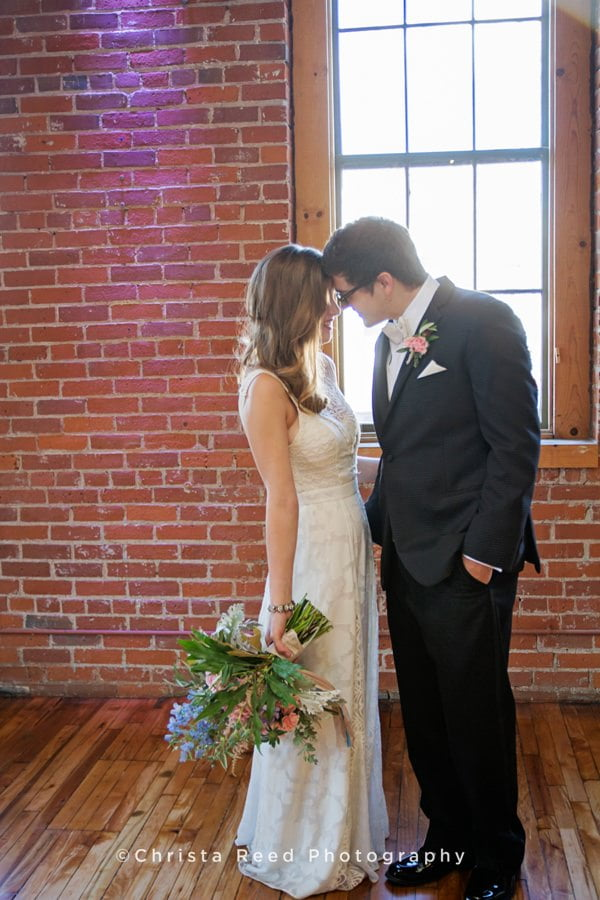 vintage brick building wedding photographer