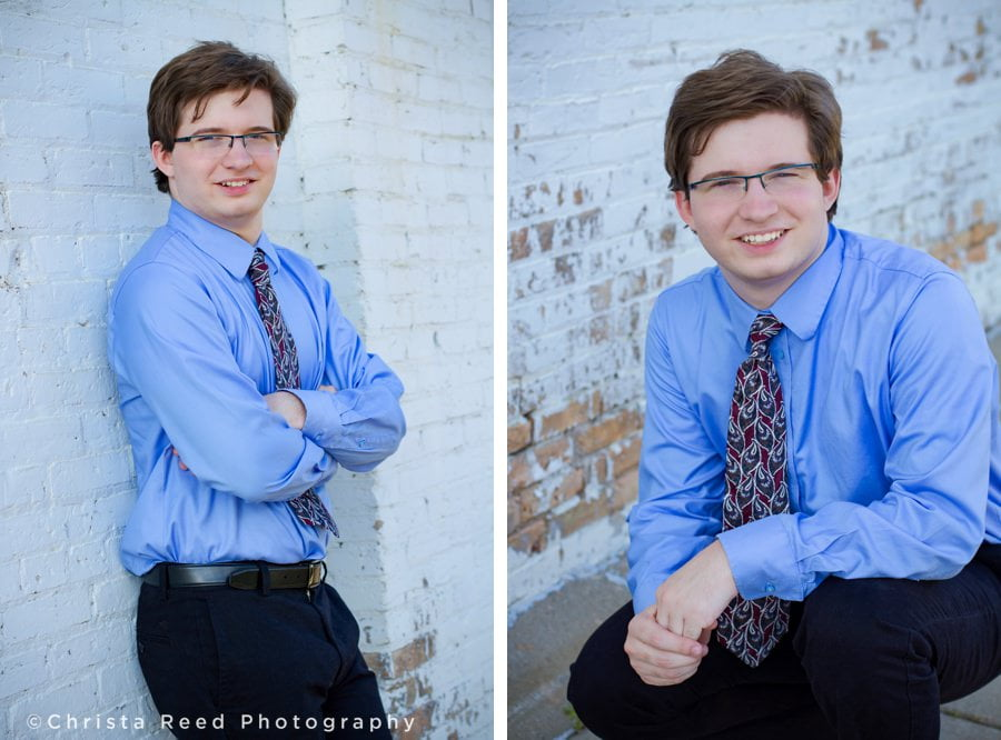 downtown portraits with a suit and tie for Jordan Minnesota outdoor senior photography