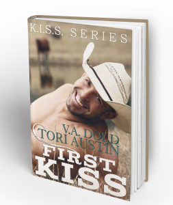 Author V.A. Dold First Kiss Paranormal Cowboy Romance Book Cover Design