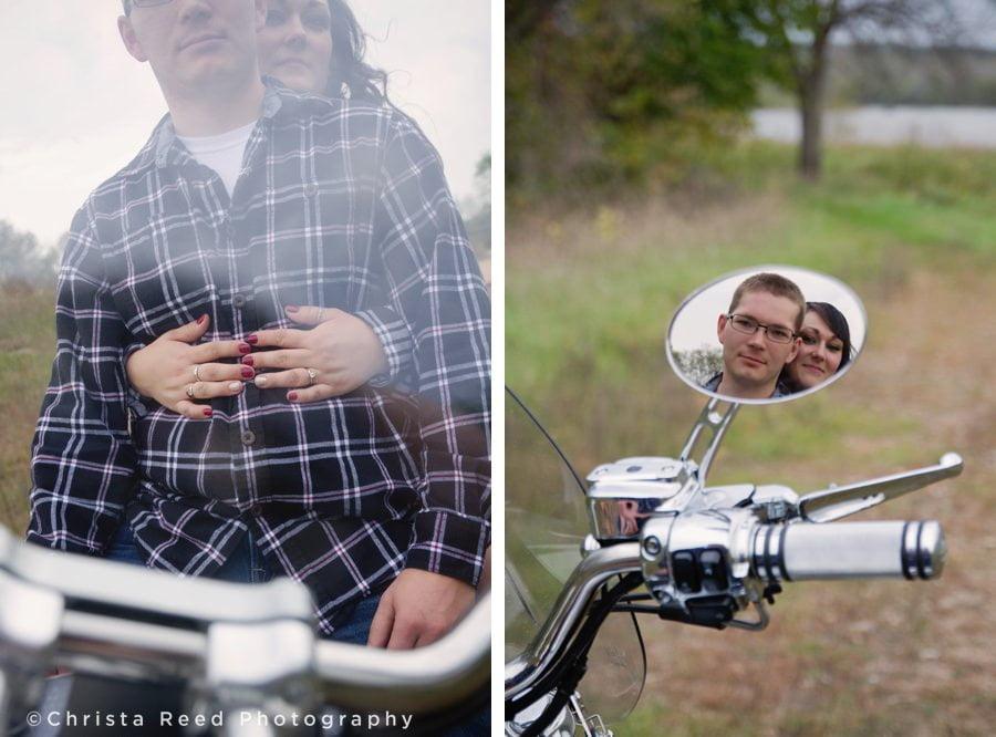 chaska motorcycle cowboy engagement shoot