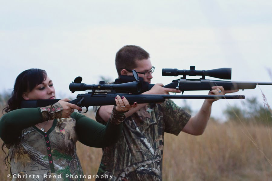 hunting for engagement portraits in chaska