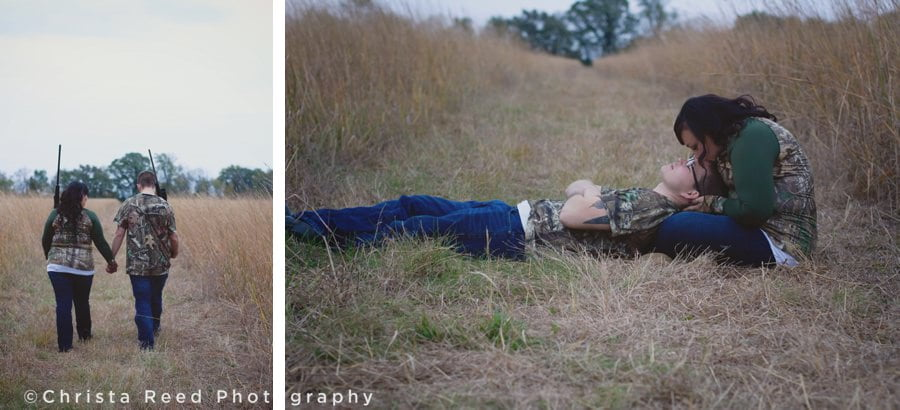 romantic outdoor engagement in chaska