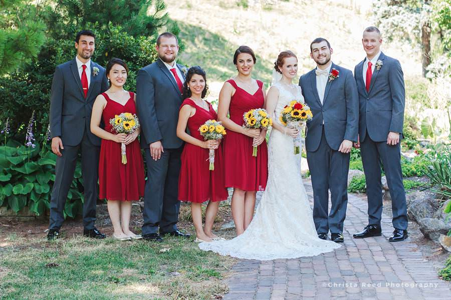 red white and grey colors for mankato fourth of july wedding