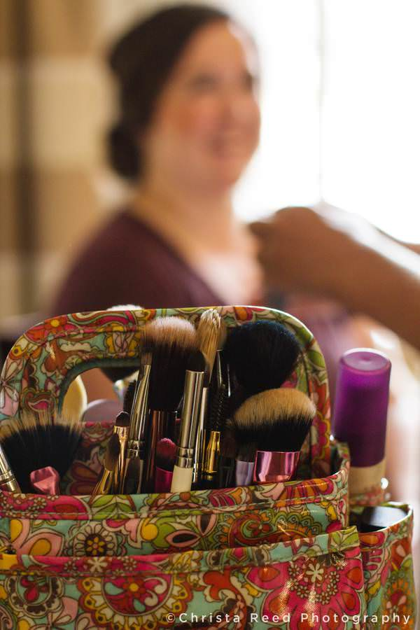 details of wedding make up kit