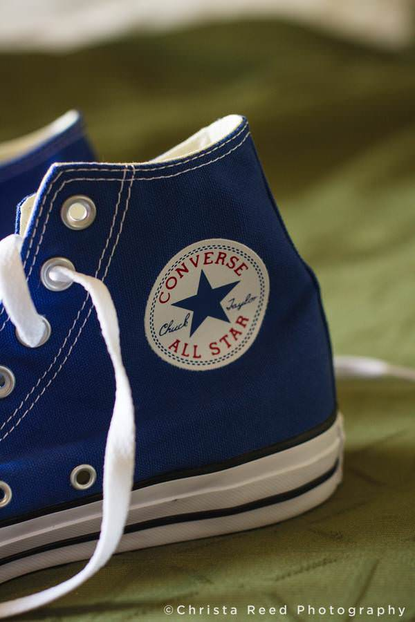 blue converse shoes for a wedding