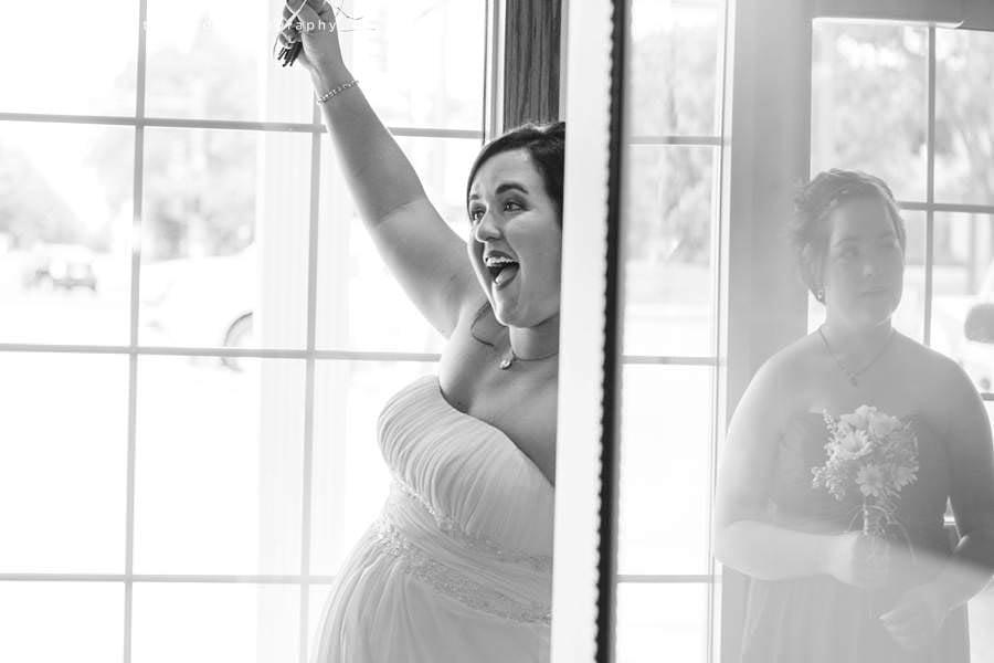bride celebrates