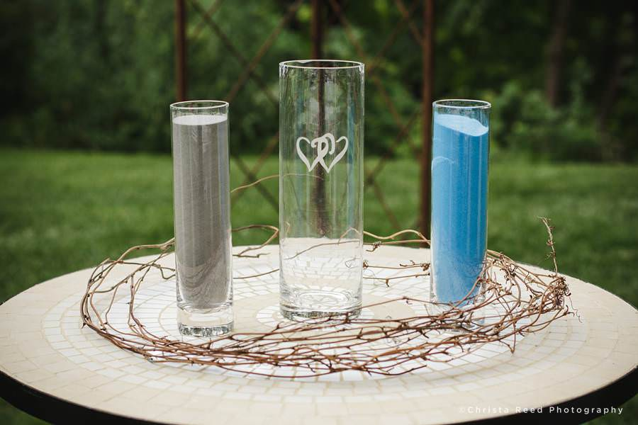 blue and grey sand for sand ceremony