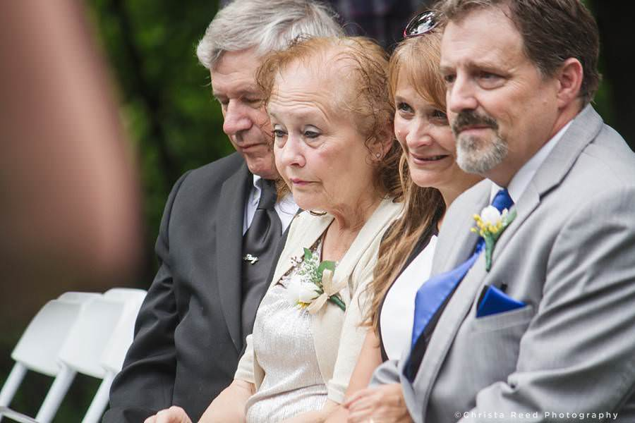 grooms parents watch ceremony