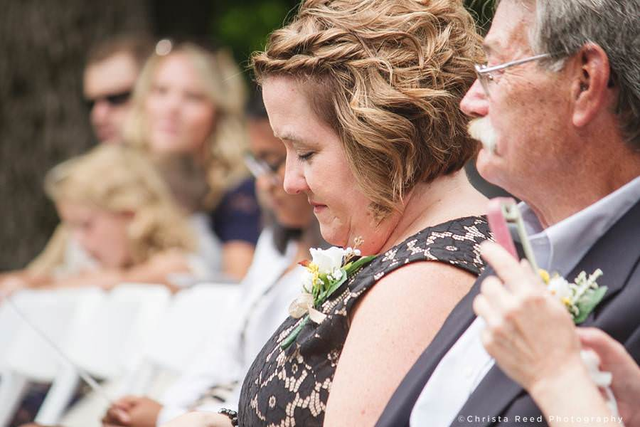 brides family watches ceremony