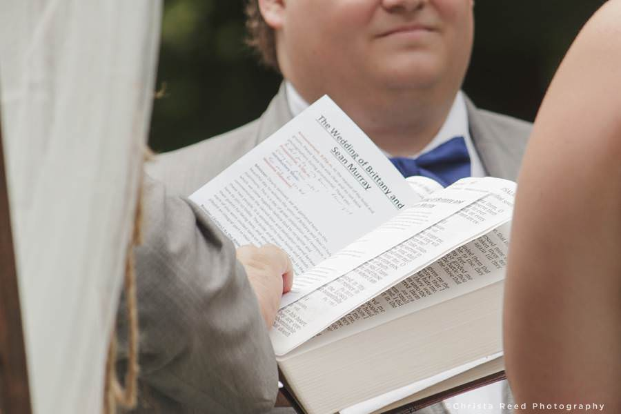 wedding ceremony notes
