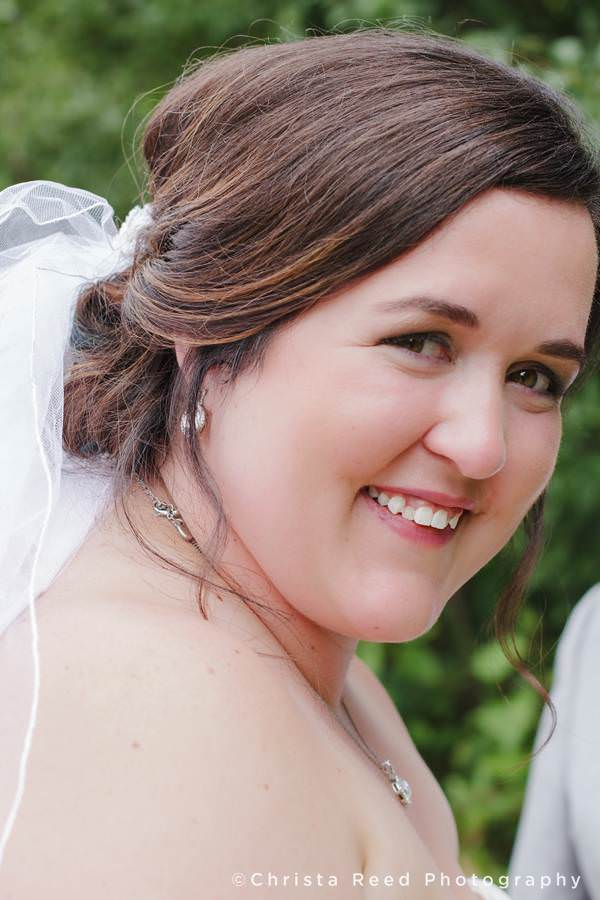 portrait of bride smiling