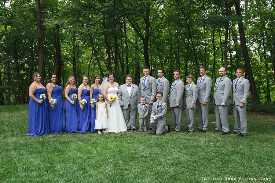 fourteen person wedding party
