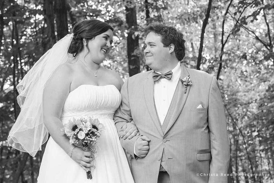black and white portrait of wedding in chanhassen