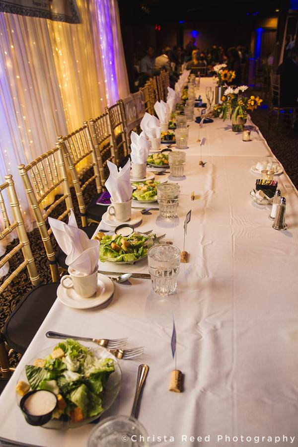 reception head table at chanhassen dinner theatre