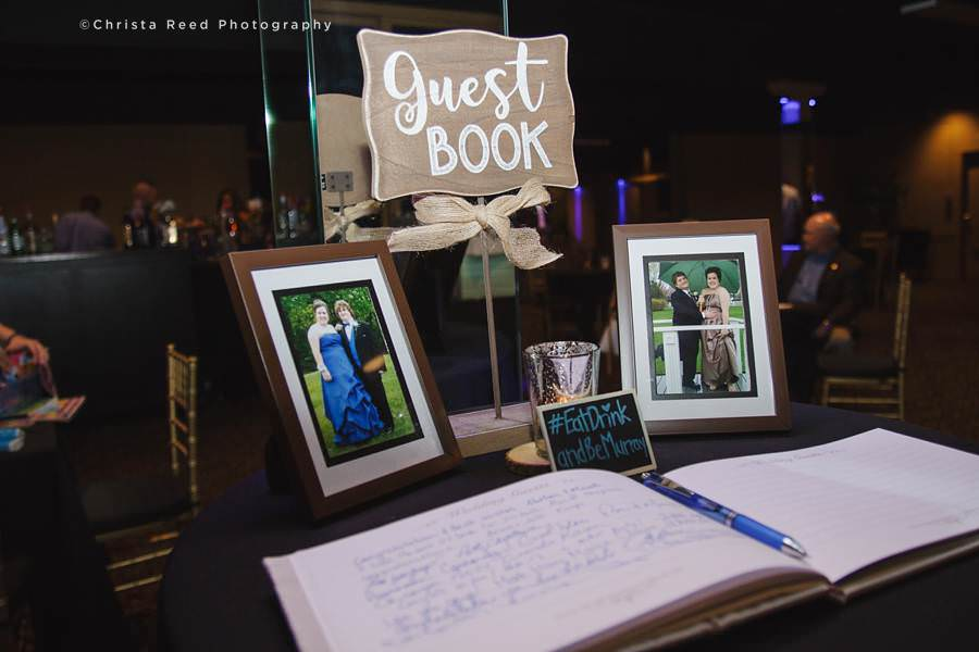 guest book at chanhassen wedding