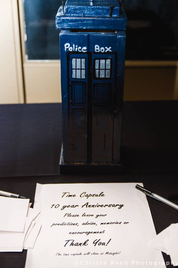 doctor who tardis time capsule for wedding