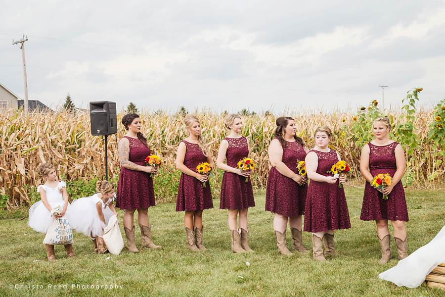 wedding party in belle plaine minnesota