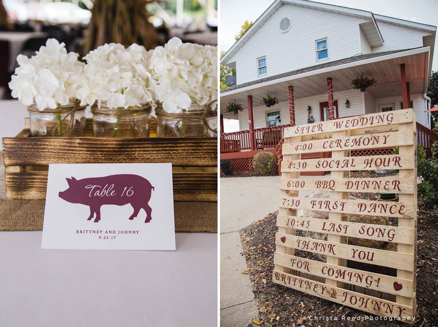 farm house wedding details in belle plaine minnesota