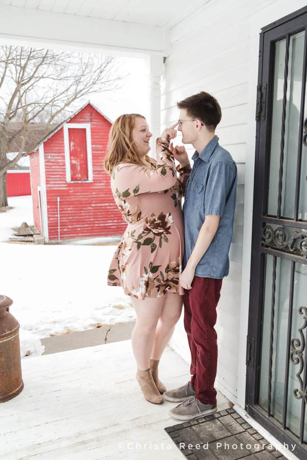 cute and fun engagement and couples portraits by Minnesota Couples Photographer
